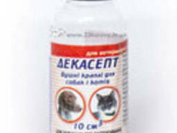 Декасепт капли ушные (декаметоксин 10 мг/10 мл) Круг