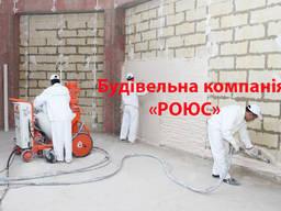 Штукатурка, Шпатлевка и Покраска машинным способом в Киеве и