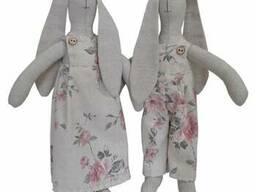 Декоративний текстильний виріб Зайка Bella Троянди 36 см SKL58-252366
