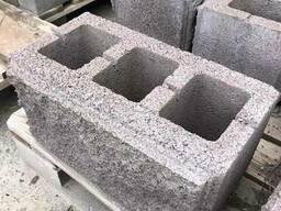 Блок рваный на столбы двухсторонний 400х250х190