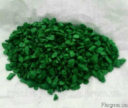 Декоративный цветной щебень (крошка, гравий) , зеленый Подро