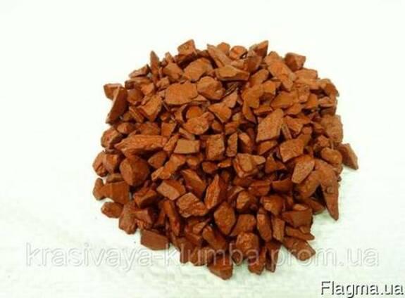 Декоративный цветной щебень (крошка, гравий) , оранжевый