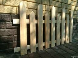 Декоративный деревянный забор 003
