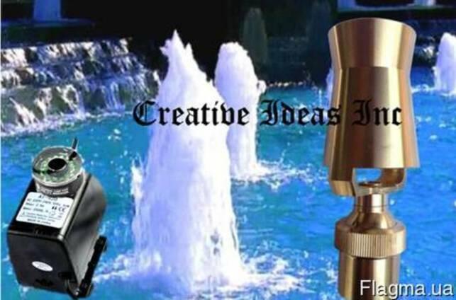 Декоративный фонтан с подсветкой и насадкой Ледяная башня