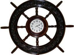 Декоративный штурвал-часы Под заказ