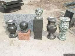 Декоративные гранитные изделия - Вазы, шары, балясины и т. д.