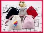 Декоративные мешочки из бархата, велюра (под заказ от 50 шт) - фото 1