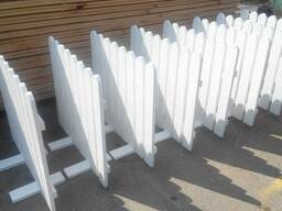 Декоративные ограды из дерева / деревянный забор