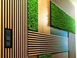 Деревянные рейки балки, мебель, декор в интерьере - фото 1