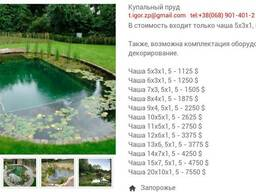 Декоративные водоёмы и бассейны.