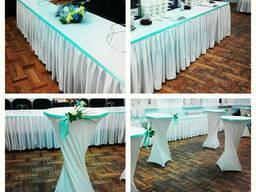 Декорирование зала, прокат текстиля, флористика