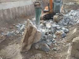 Демонтаж бетона, фундамента, зданий в Одессе.