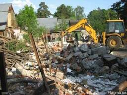 Уборка территории расчистка участка, Демонтаж домов