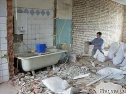 Демонтаж и снятие плитки