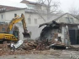 Демонтаж домов заводов сараев утилизация