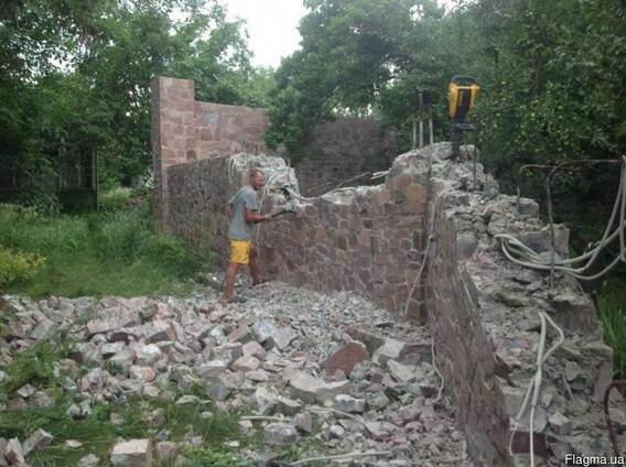 Демонтаж - разборка, снос дома. Разборка зданий Киевская обл
