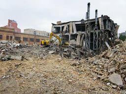 Демонтаж зданий, промышленный демонтаж, утилизация мусора