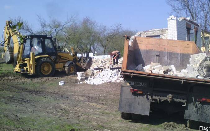Демонтаж зданий. Вывоз мусора