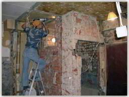 Демонтаж-ные работы стен, плитки, штукатурки, перегородок,