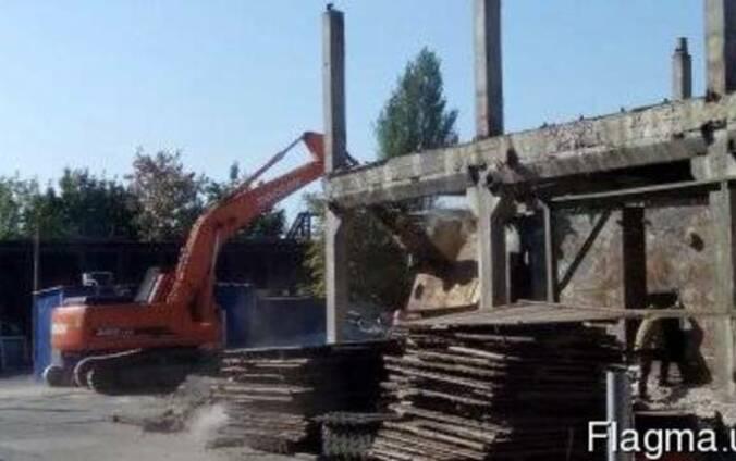 Демонтажные работы, снос строений, демонтаж зданий