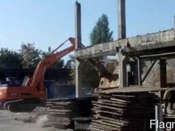 Демонтажные работы,снос строений,демонтаж зданий