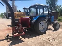 Комунальний подрібнювач дерева на базі трактора (щепоріз)