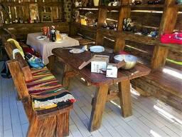 Деревянная беседка под старину из массива древесины