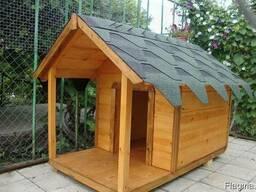 Деревянная будка для собак - фото 4