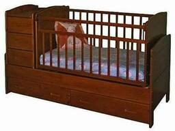 Деревянная детская кровать для младенца Под заказ