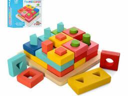 Деревянная игрушка Геометрика Limo Toy сортер-вкладыш (MD 2345)