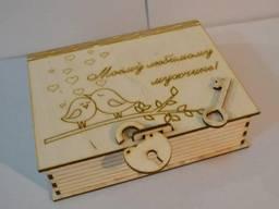 Деревянная коробка для упаковки. Подарочная коробка.