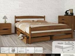 Деревянная кровать из массива бука