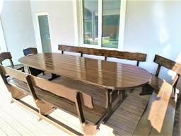 Деревянная овальная мебель из дерева 3400х1200. Готовое. ..
