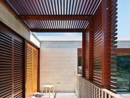Деревянная пергола с примыканием к дому под ключ - фото 5