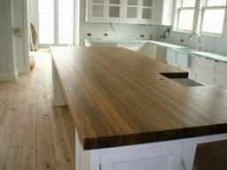 Деревянная столешница для кухни из ясеня