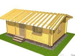 Деревянный дачный домик, дача из дикого сруба 47 м2