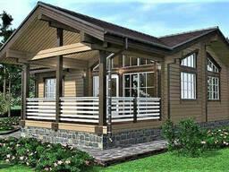 Деревянный дом из профилированного клееного бруса 10х12 м