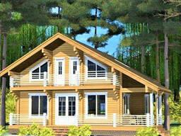 Деревянный дом из профилированного клееного бруса 14х12 м