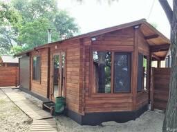 Деревянный дом из профилированного бруса 7,1х6,1м, площадью