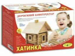 """Деревянный конструктор Избушка"""" (68 дет. )"""""""