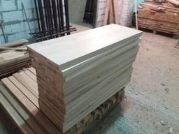 Деревянный мебельный щит цельный дуб 38мм.