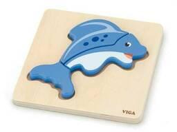 Деревянный мини-пазл Viga Toys Рыбка (59934)