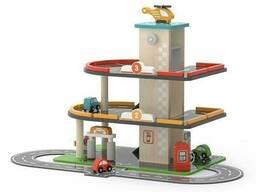 Деревянный паркинг с АЗС Viga Toys (44509)