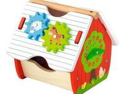 Деревянный сортер Viga Toys Веселый домик (50533)