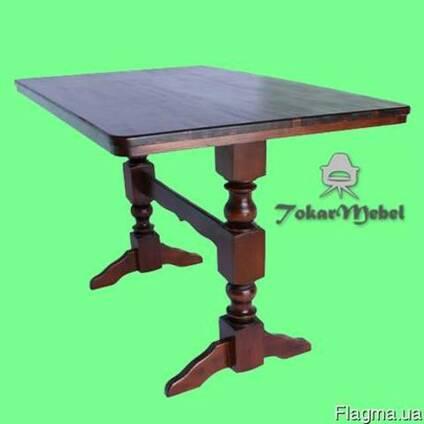 Деревянный стол для кафе на 2 ноги