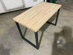 """Деревянный стол """"Пейн"""" из массива ясеня в стиле LOFT"""