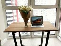 """Деревянный столик """"Кваттро"""" из массива ясеня в стиле LOFT"""