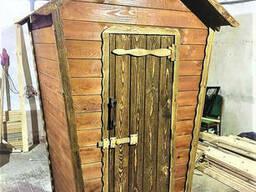 Деревянный туалет под старину