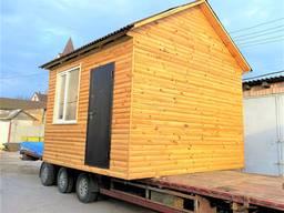 Деревянный утеплённый каркасно-щитовой готовый дачный дом