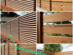 Деревянный забор от производителя под ключ. Забор из дерева.